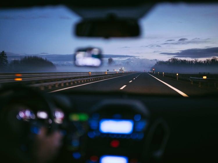 Dashcam helps van driver after crash with sports car