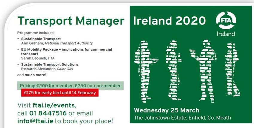 European Green Deal among the Transport Manager 2020 topics