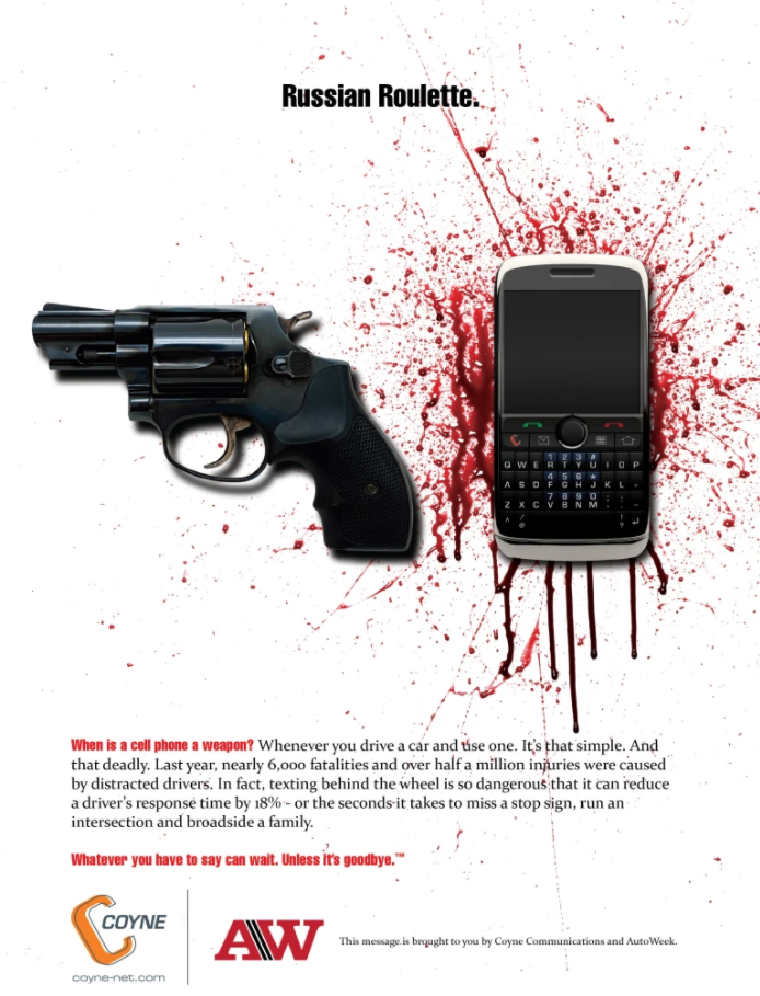 Mobile phone use behind the wheel_some eye-opening campaigns_1