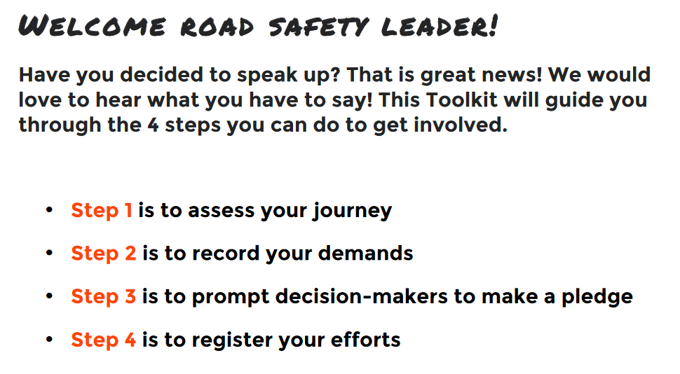 Road Safety Week 2019 speakup is the hashtag of the 5th edition_2