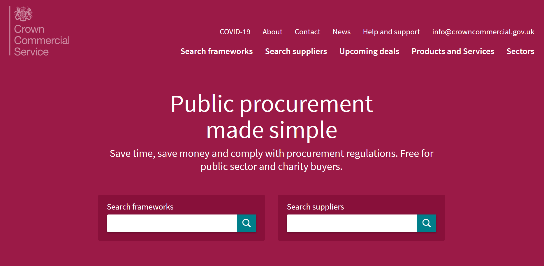 Transpoco listed on the Crown Commercial Service website (CCS)
