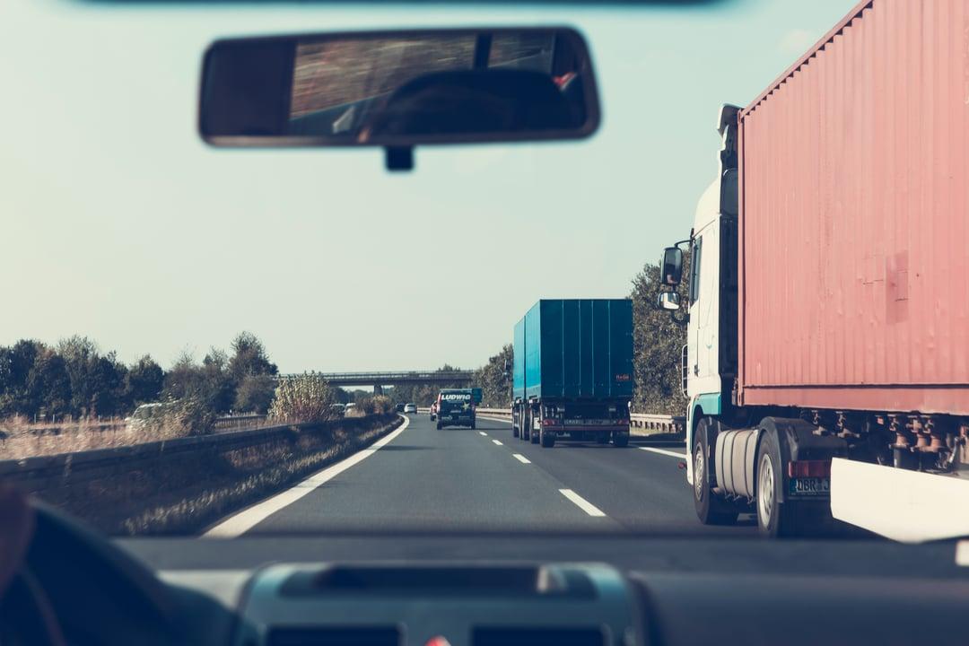 Truck in highway