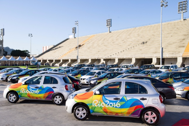 Some of the cars of Rio 2016 Olympics fleet