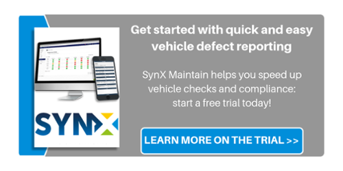 Vehicle defect reporting - free SynX Maintain trial
