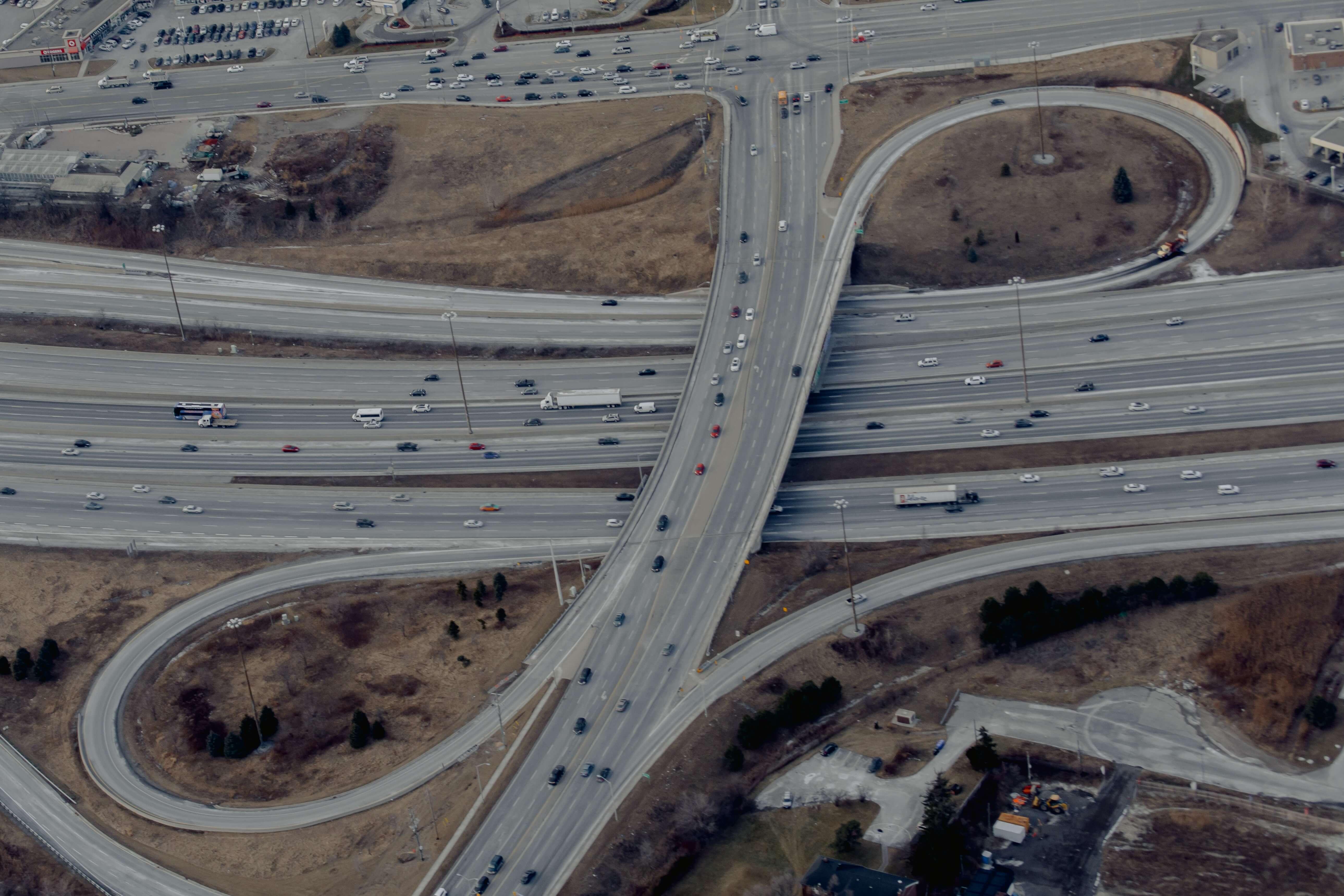 Highway aerial view