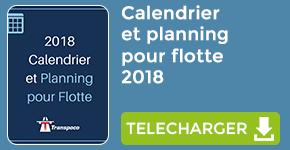 Le calendrier de gestion de flotte 2018